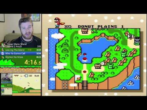 Super Mario World - World 2 Any% (8:12.04) PB