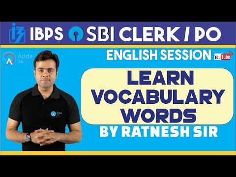 IBPS, SBI PO | Learn Vocabulary Words For SBI clerk /PO| English