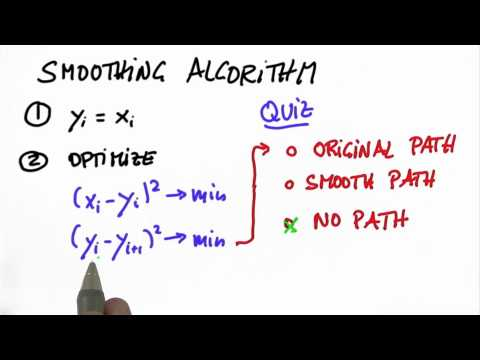 Smoothing Algorithm 2 Solution - Artificial Intelligence for Robotics
