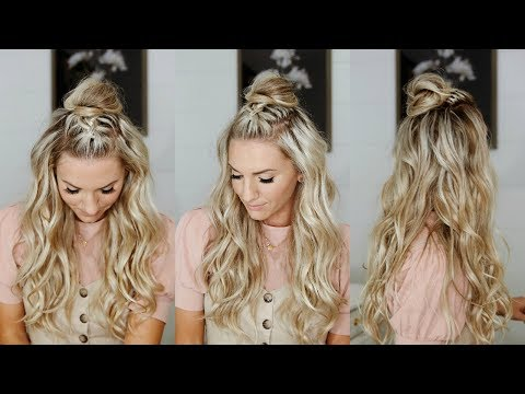 Half Up Mohawk Braided Top Knot