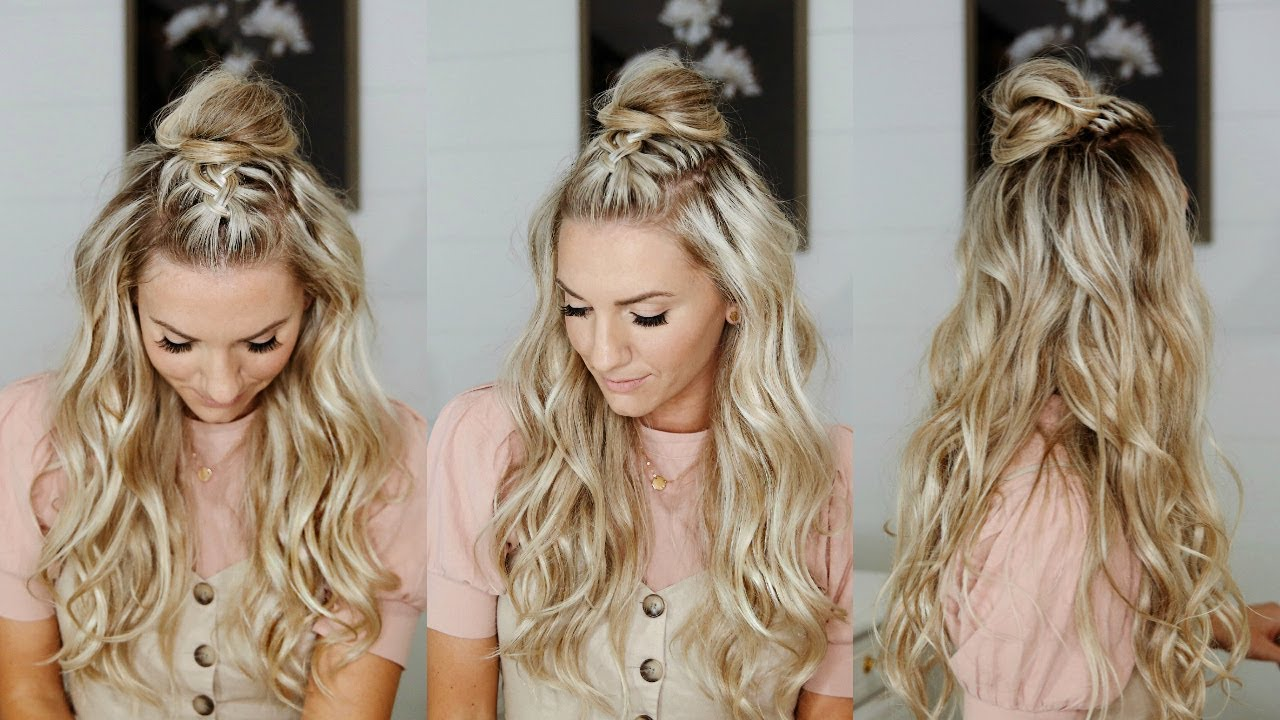 Half Up Mohawk Braided Top Knot Youtube