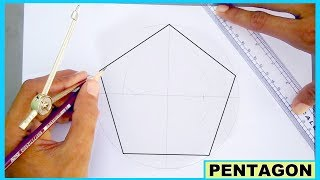 Learn to draw pentagon without using protractor