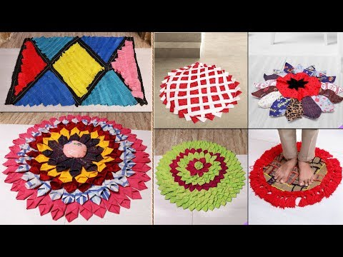 7 Beautiful DIY Doormat Ideas From Old Clothes    Reuse Craft