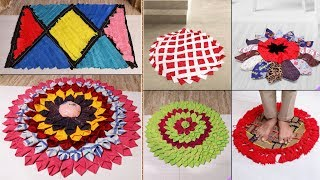 7 Beautiful DIY Doormat Ideas From Old Clothes || Reuse Craft