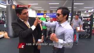 Érik Morales asistió el entrenamiento del 'Pac-Man'