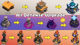 Upgrading All Defense in 4 Minutes | Clash of Clans All Defense Level