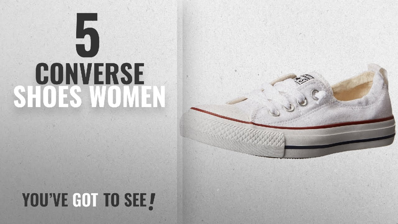 53b9afb49159 Top 5 Converse Shoes Women  2018   Converse Chuck Taylor All Star Shoreline  White Lace-Up Sneaker -