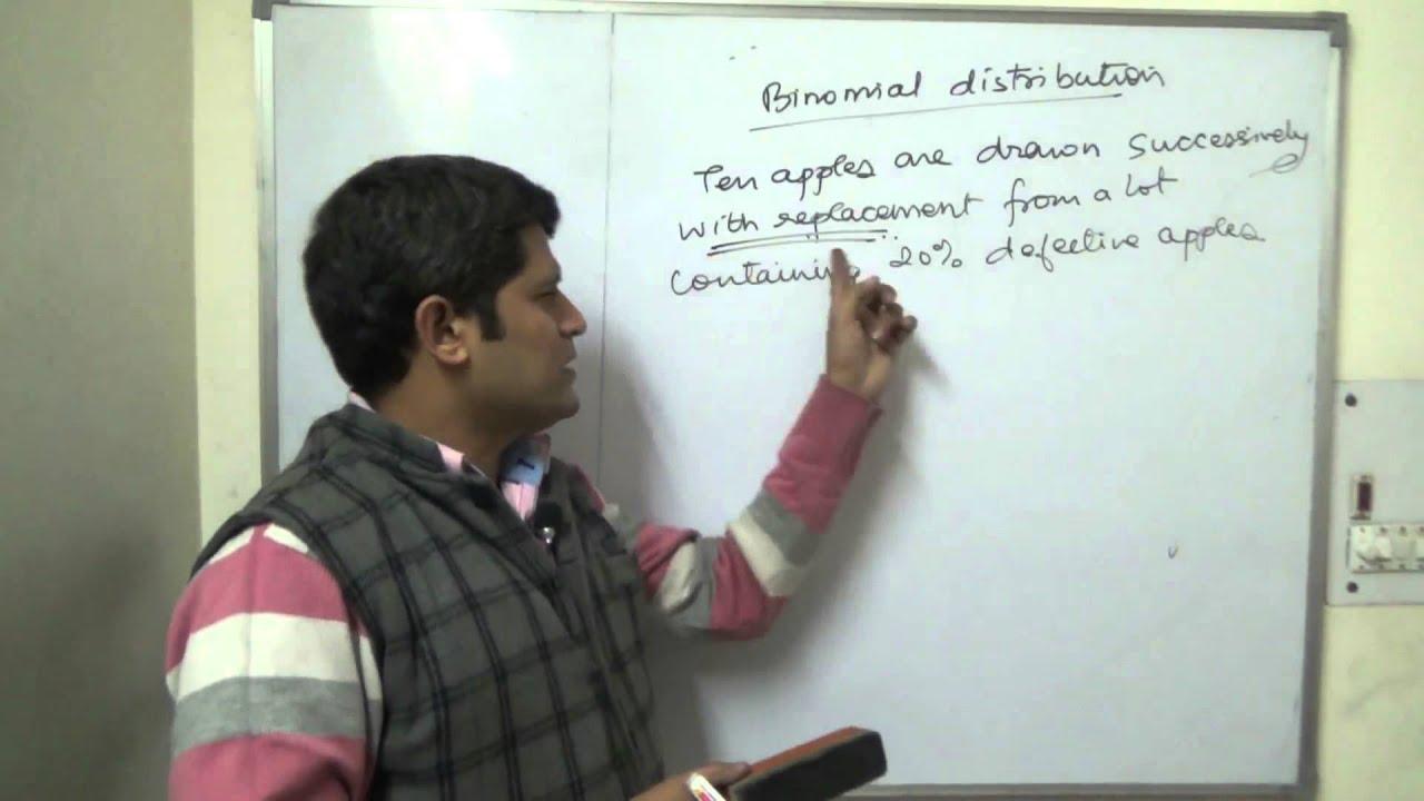 Binomial Distribution Class 12th introduction