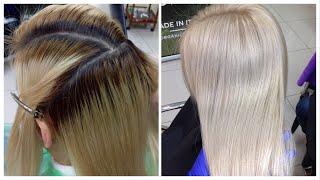 Исправление цвета окрашенных волос // Теплый блонд // How to Fix Bad Hair Color