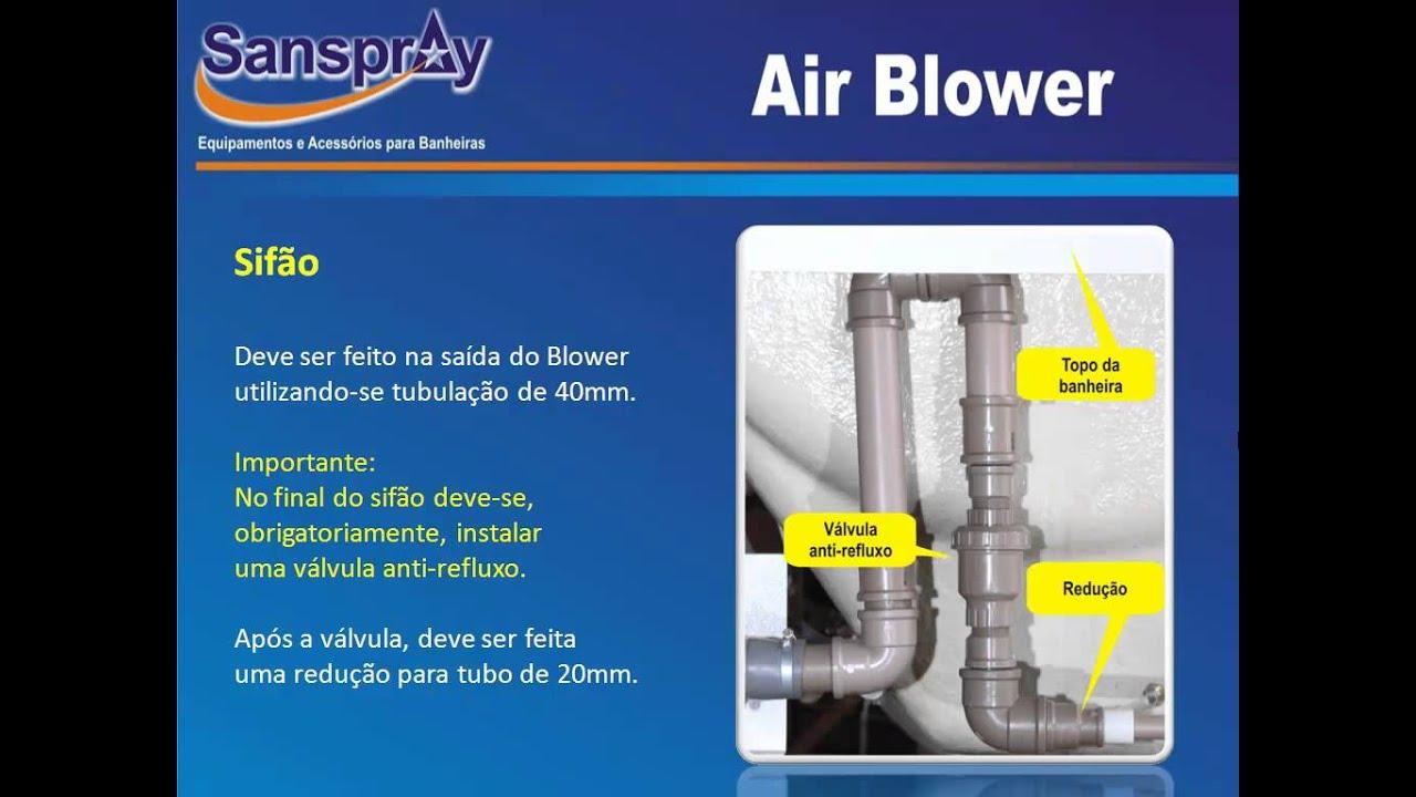 Air Blower Work : Instalação air blower sanspray youtube
