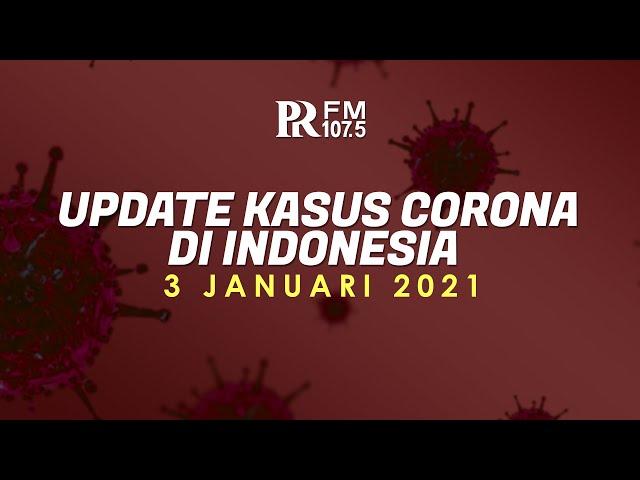 Update Kasus Corona di Indonesia 3 Januari 2021