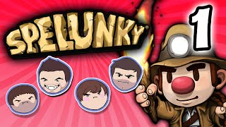 Spelunky: Ghost Blowing - PART 1 - Grumpcade (Ft. Miles Luna)