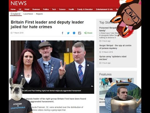 """Britain First leader and deputy leader jailed for """"hate crimes"""""""