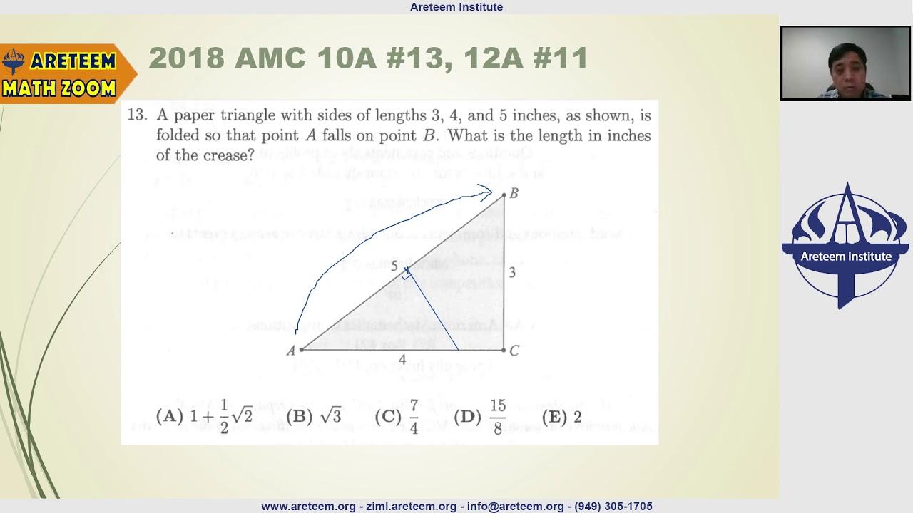 2018 AMC 10A Problem 13 Solution