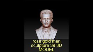 3D Model of rose gold man sculpture -39 Review