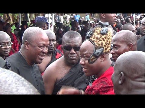 Prez Mahama and Barima Sarfo Tweneboa Kodua attended funeral in Kumawu