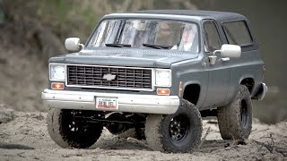 1:10 Scale RC Chevrolet K5 Blazer on a cool gray Winter Day