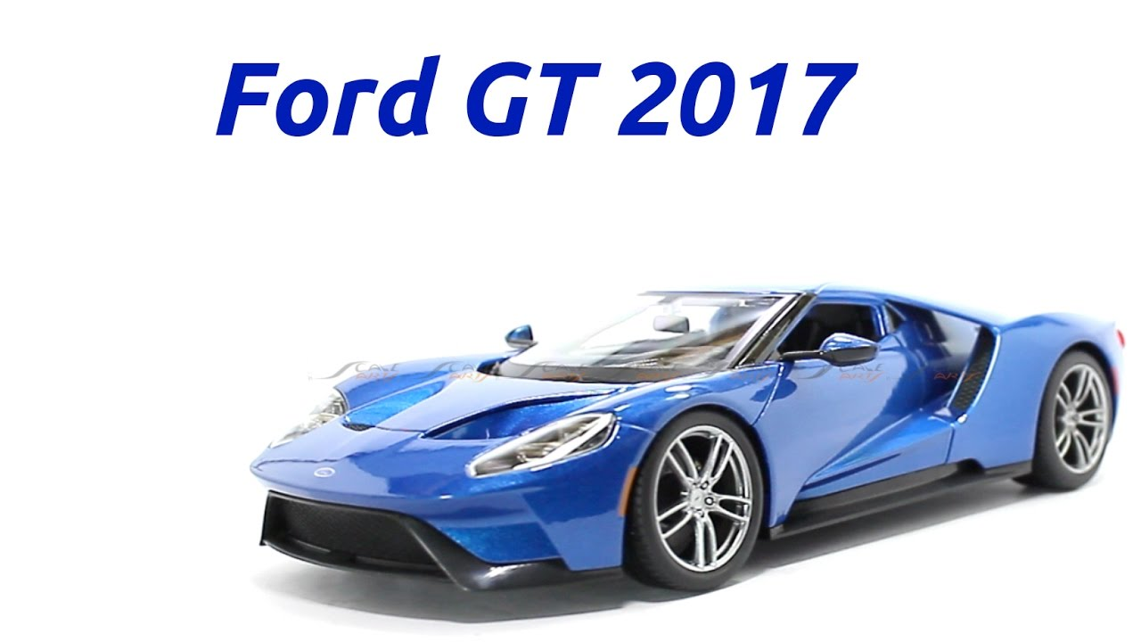 2017 Ford Gt Blue 1 18 Maisto Cast Scale Model Car Scaleartsin You