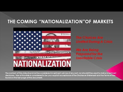 "UnderTheLens - 09 21 17 - OCTOBER -  Coming ""Nationalization"" of Markets"