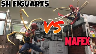 SPECIAL SH Figuarts Vs Mafex Iron Spider from Avengers Infinity War