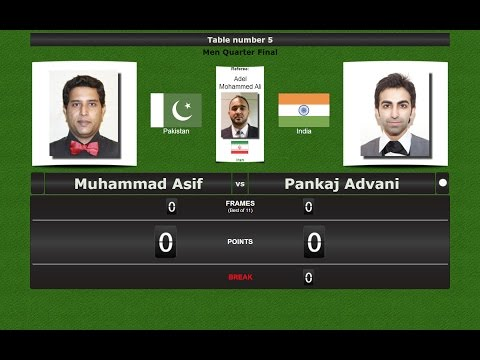 Snooker 6 reds 1/4 Final : Muhammad Asif vs Pankaj Advani