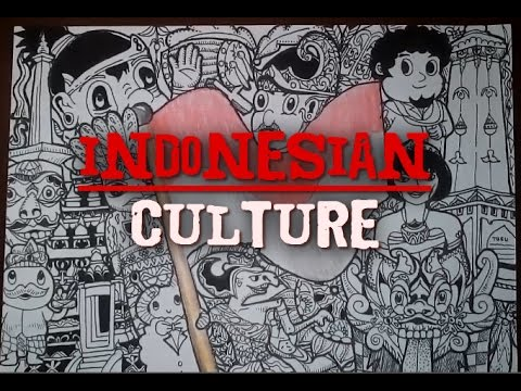 How To Draw A Doodle Indonesian Culture Youtube