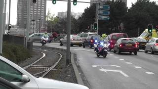 SPOEDTRANSPORT! Ambulance 15-144 + 4x Politiemotor