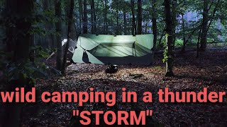 Wild camping in a hขge storm