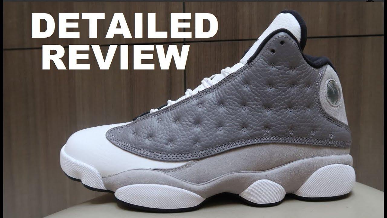 1d653a89136 Air Jordan 13 XIII Atmosphere Grey Retro Sneaker Detailed Look Review  #Jumpman #Sneakerhead