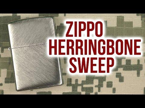 Распаковка Zippo Herringbone Sweep 24648