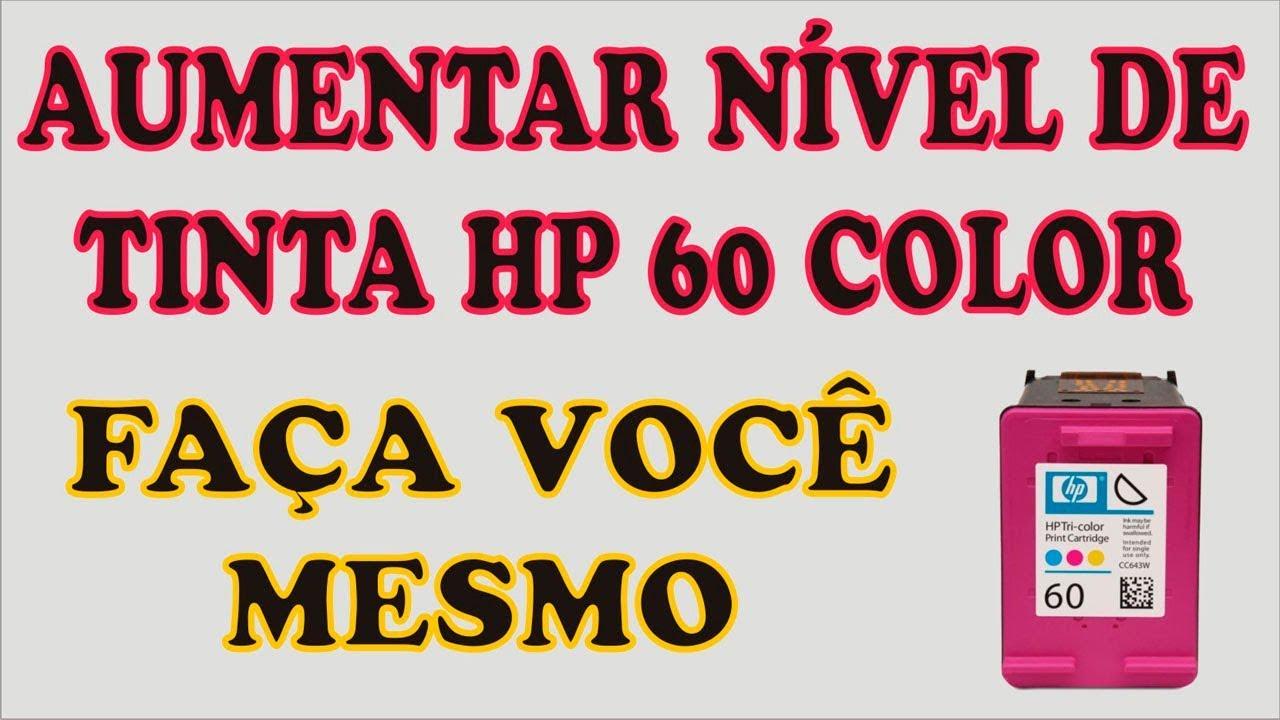 Recarga E Transformacao Do Cartucho Hp 60 Color 18ml Recycle Print