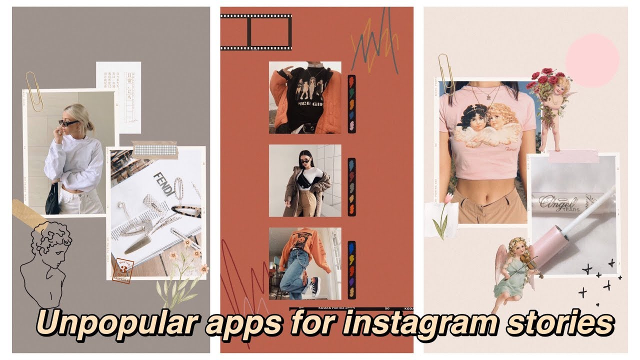 UNPOPULAR APPS FOR INSTAGRAM STORIES // Aesthetic