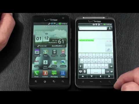 LG Revolution 4G vs HTC Thunderbolt 4G Part 2 Verizon 4G Face Off