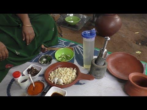 village style outdoor Cooking Poondu puli Oorugai / Cooking By Village food Recipes