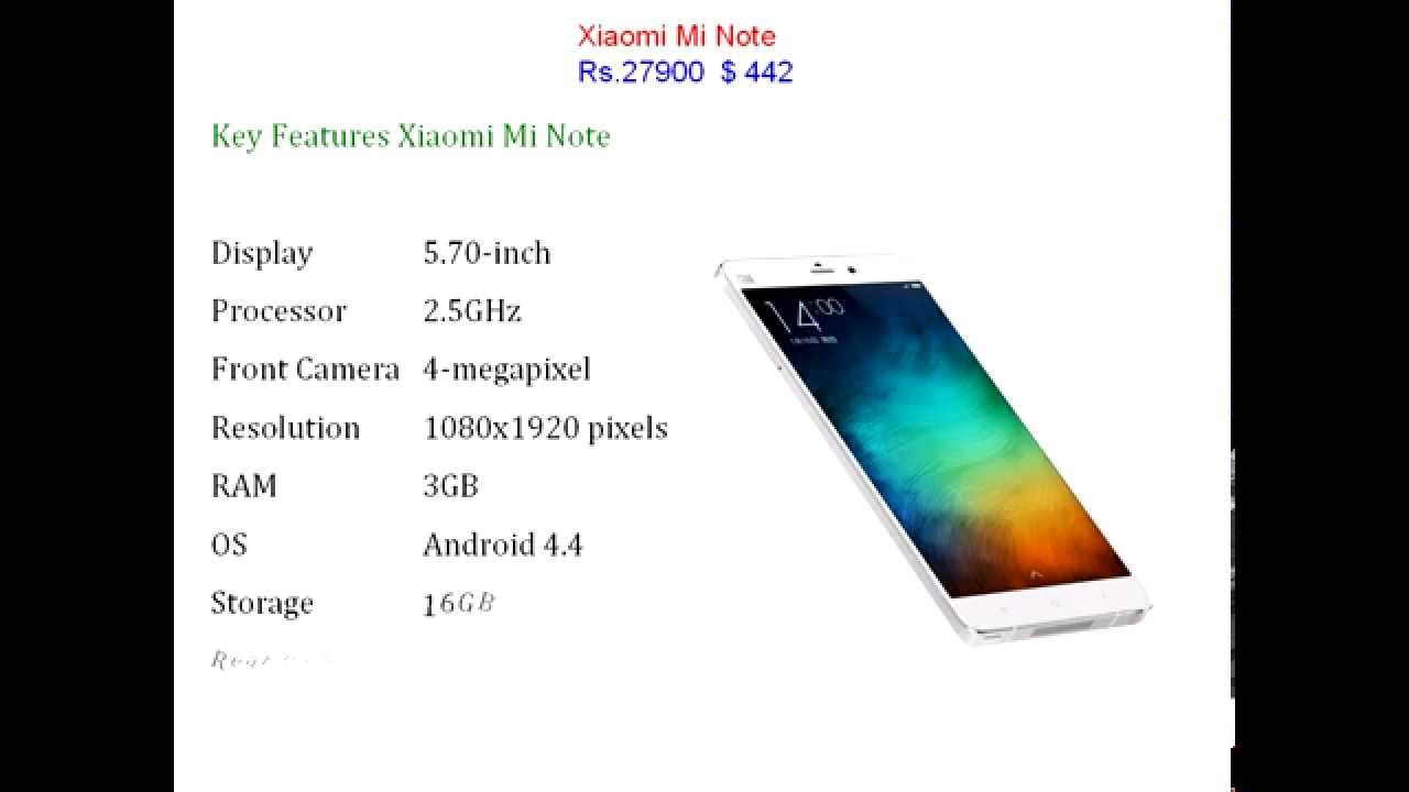Xiaomi Mi Note Price And Full Specification Youtube Bamboo
