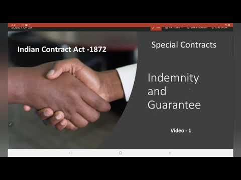 Special Contracts - Indemnity