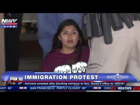 WATCH: Immigration Activists Arrested After Protesting Outside  Gov. Ducey's Office in Phoenix - FNN