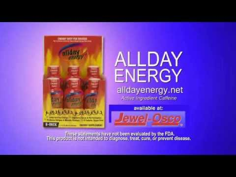 ALLDAY ENERGY/Jewel-Osco TV ad - 1st spot