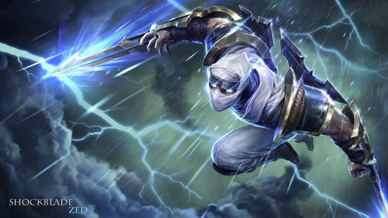 Zed Galaxy Slayer Wallpaper Hd 4k: Shockblade Zed Skin Spotlight