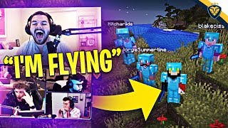 COURAGE GETS THE RAREST ITEM IN MINECRAFT! I CAN FLY!!! THE HUNTING (Minecraft)