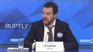 Russia: Italian Lega Nord leader Salvini calls for end to anti-Russia sanctions