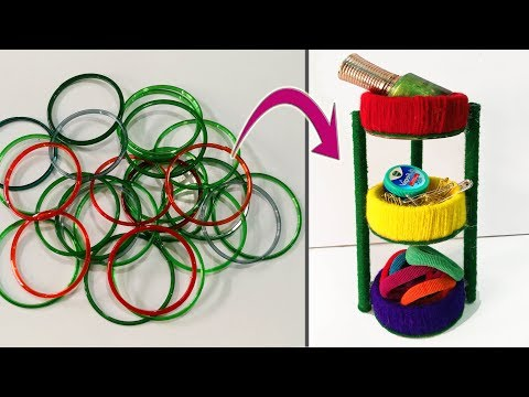 How to reuse old bangles at home || Best out of waste || DIY | Bangle craft