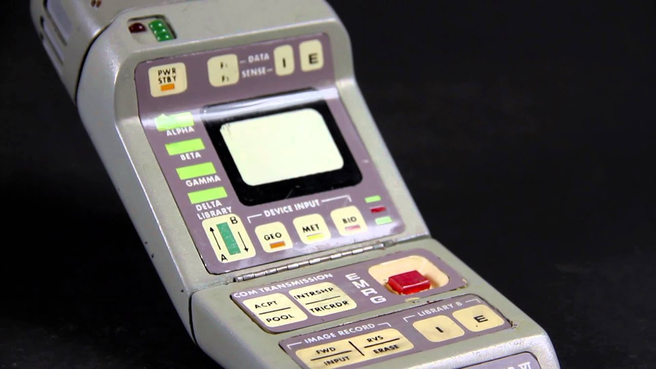 Star Trek  Inspired MARK VI Medical TRICORDER With Hinges And Scanner