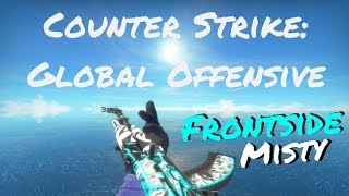 counter strike go ak 47 frontside misty battle scarred bs w gameplay