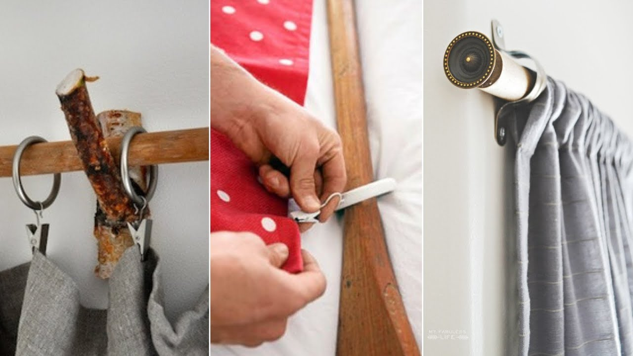 10 diy curtain rods ideas that will upgrade your window