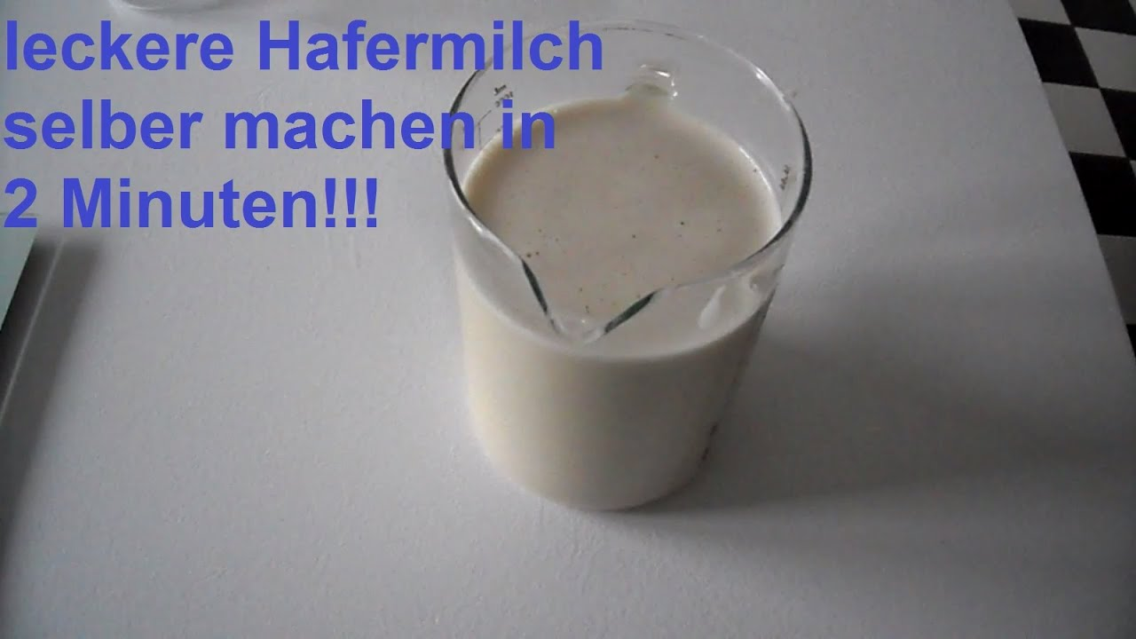 diy vegane bio hafermilch selber machen richtig lecker youtube. Black Bedroom Furniture Sets. Home Design Ideas