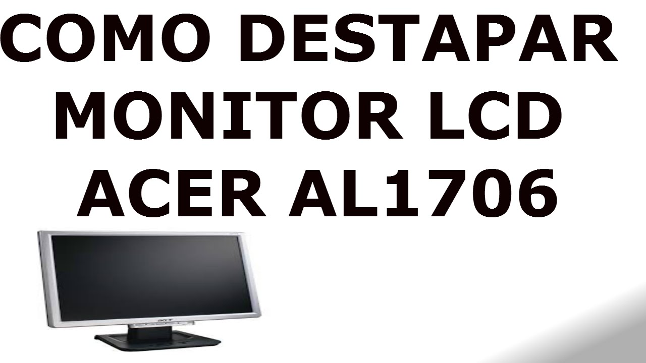 ACER AL1706 MONITOR WINDOWS 7 DRIVERS DOWNLOAD
