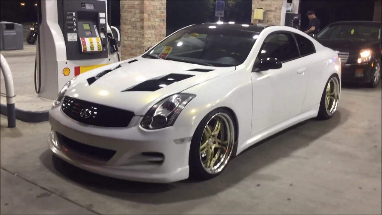 G35 0 60 >> G35 with 3M Gloss White/Gold sparkle wrap - YouTube