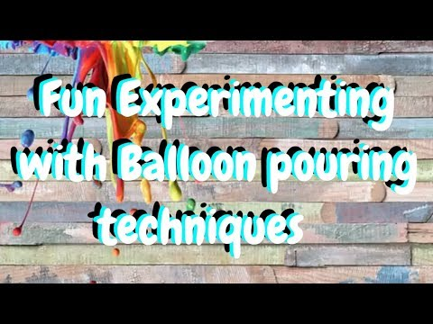 #BalloonCollab 3 different Balloon pouring painting experiments