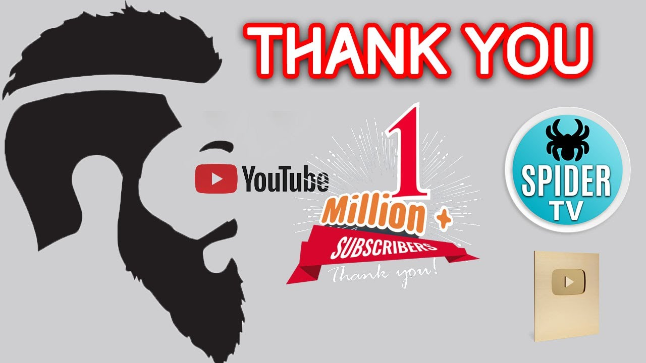 1 MILLION SUBSCRIBERS Shukar Alhamdulillah !!! | Spider Tv